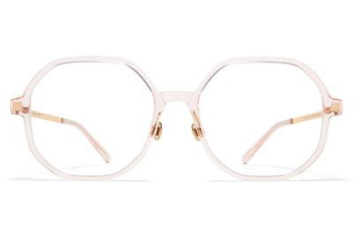 MYKITA - Hilla Eyeglasses with nose pads Rose Water/Champagne Gold