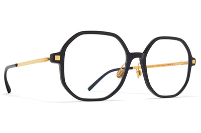 MYKITA - Hilla Eyeglasses with Nose Pads Black/Glossy Gold