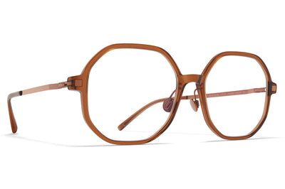 MYKITA - Hilla Eyeglasses with Nose Pads Topaz/Shiny Copper