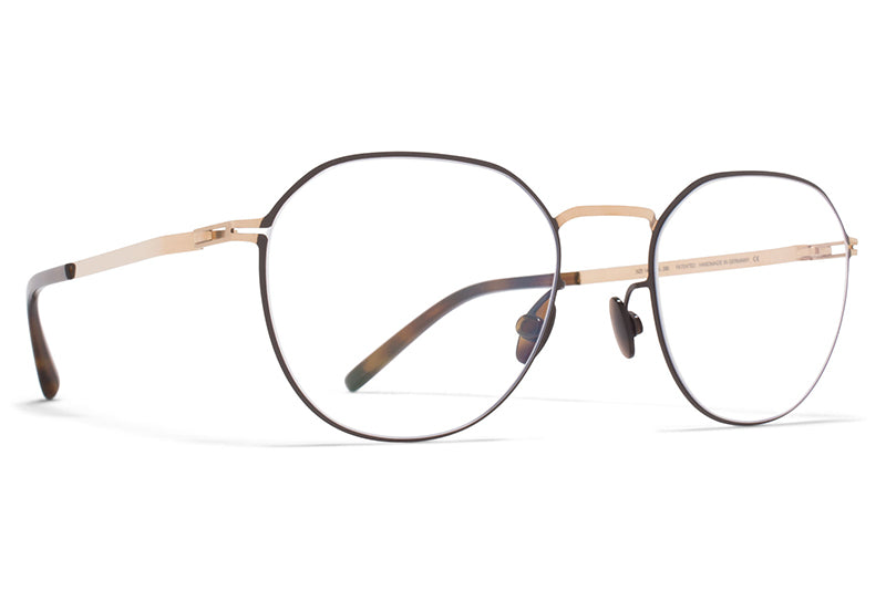 MYKITA - Julius Eyeglasses Champagne Gold/Dark Brown