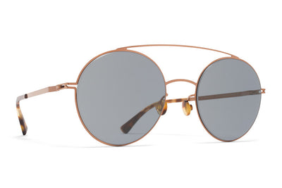 MYKITA Sunglasses - Aira Shiny Copper with Dark Blue Solid Lenses