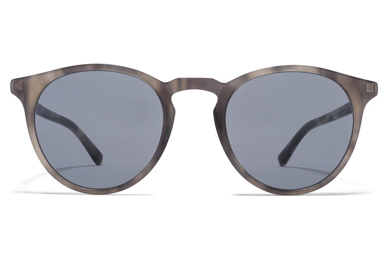 MYKITA Sunglasses - Alfur Grey Havana/Shiny Graphite with Dark Blue Solid Lenses