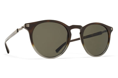 MYKITA Sunglasses - Alfur Santiago Gradient/Shiny Graphite with Raw Green Solid Lenses