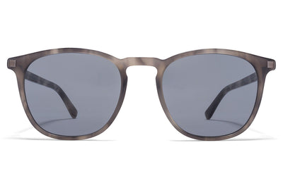 MYKITA Sunglasses - Aluki Grey Havana/Shiny Graphite with Dark Blue Solid Lenses