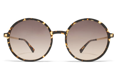 MYKITA Sunglasses - Anana Trinidad/Glossy Gold with Brown/Brown Gradient Lenses