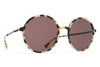 MYKITA Sunglasses - Anana Creamy Cookie/Black with Brown Solid Lenses