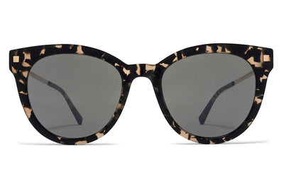 MYKITA Sunglasses - Anik Antigua/Champagne Gold with Mirror Black Lenses
