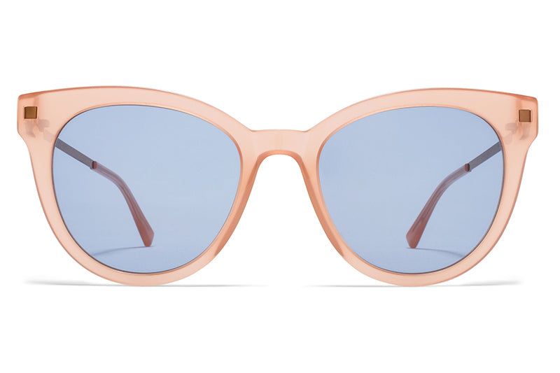 MYKITA Sunglasses - Anik Rhubarb Sorbet with Sky Blue Solid Lenses