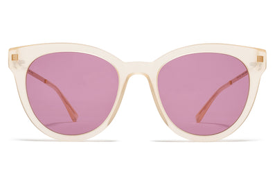 MYKITA Sunglasses - Anik Melon Sorbet/Champagne Gold with Plum Solid Lenses