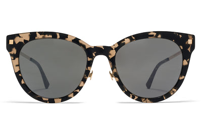 MYKITA Sunglasses - Anik with Nose Pads Antigua/Champagne Gold with Mirror Black Lenses