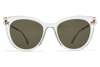 MYKITA Sunglasses - Anik Mint Water/Shiny Copper with Raw Green Solid Lenses