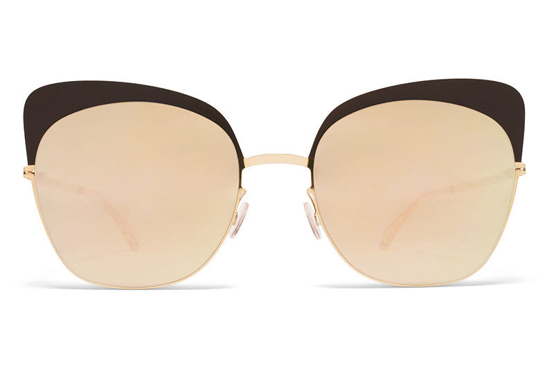 MYKITA Sunglasses - Anneli Champagne Gold/Dark Brown with Champagne Gold Lenses