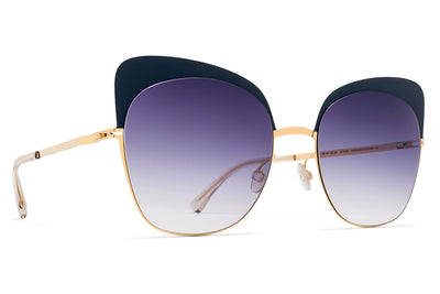 MYKITA Sunglasses - Anneli Gold/Indigo with Grey Gradient Lenses