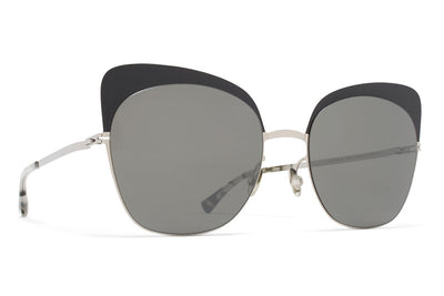 MYKITA Sunglasses - Anneli Silver/Black with Mirror Black Lenses