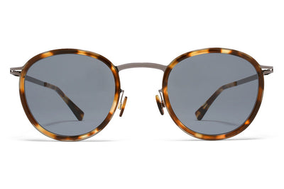 MYKITA Sunglasses - Antti Shiny Graphite/Cocoa Sprinkles with Dark Blue Solid Cridal Lenses