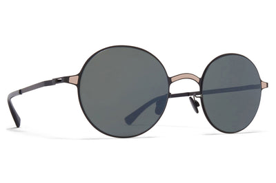 MYKITA - Blu Sunglasses Black/Sand with Mirror Black Lenses