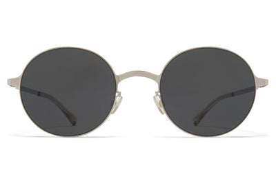 MYKITA - Blu Sunglasses Silver/Cinerous Grey with Dark Grey Solid Lenses