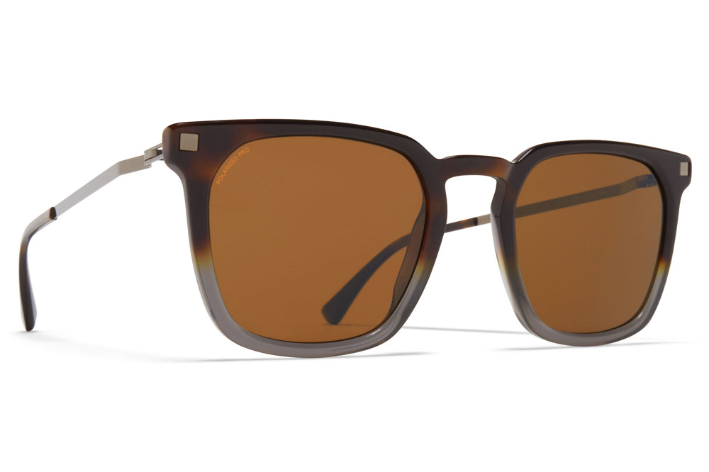 MYKITA - Borga Sunglasses MYKITA - Borga Sunglasses Santiago Gradient/Shiny Graphite with Polarized Pro Amber Brown Lenses