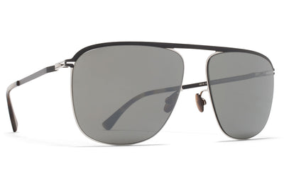 MYKITA - Brian Sunglasses Silver/Black with Mirror Black Lenses