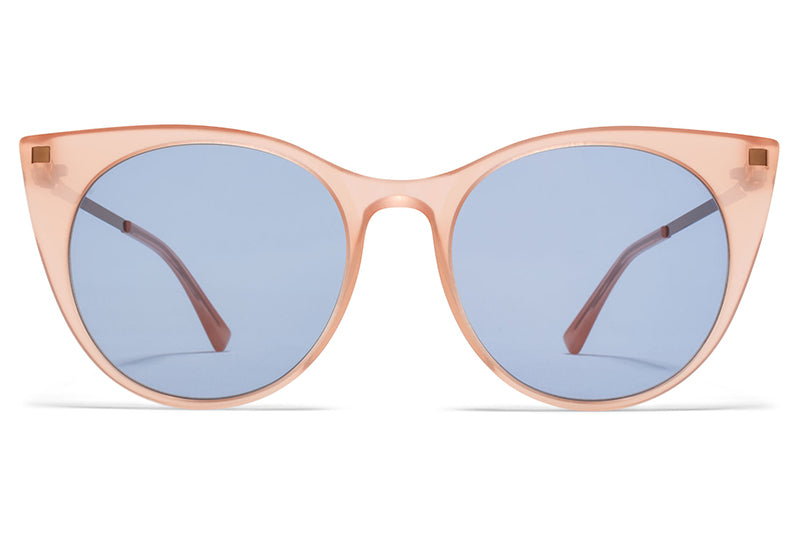 MYKITA - Desna Sunglasses Rhubarb Sorbet/Shiny Copper with Sky Blue Solid