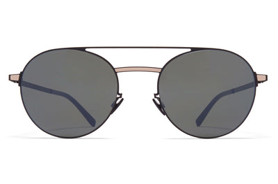 MYKITA - Eri Sunglasses Black/Sand with Mirror Black Lenses