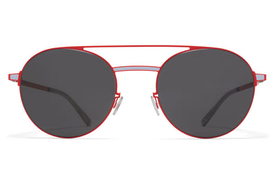 MYKITA - Eri Sunglasses Rusty Red/Powder Blue with Dark Grey Solid Lenses