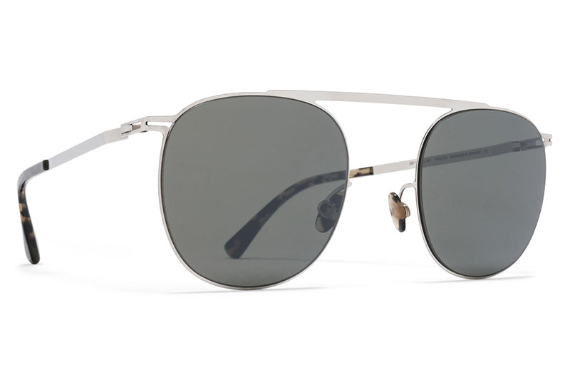 MYKITA Sunglasses - Erling Shiny Silver with Mirror Black Lenses