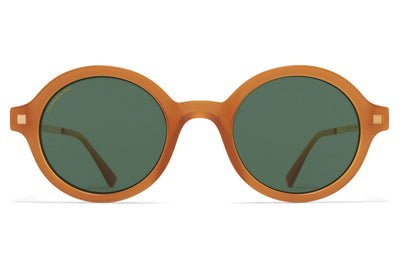 MYKITA - Esbo Sunglasses Brown/Dark Brown/Glossy Gold with Polarized Pro Green 15 Lenses