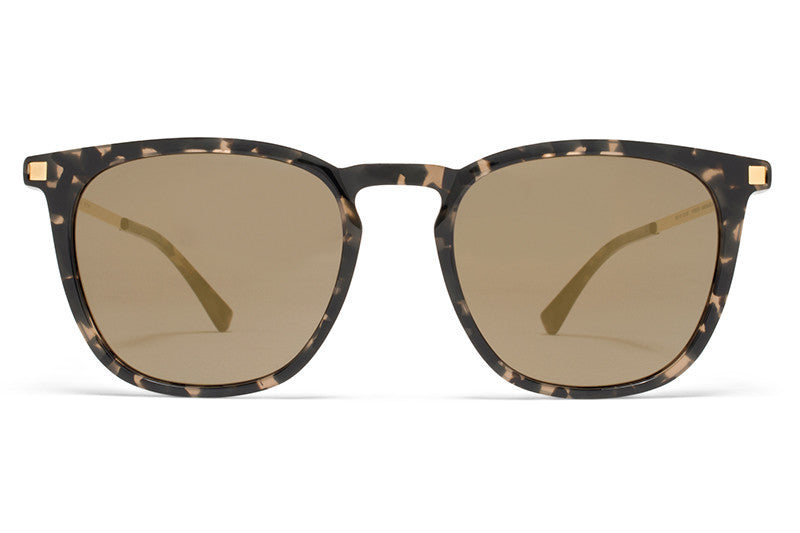 Antigua/Glossy Gold with Brilliant Grey Solid Lenses