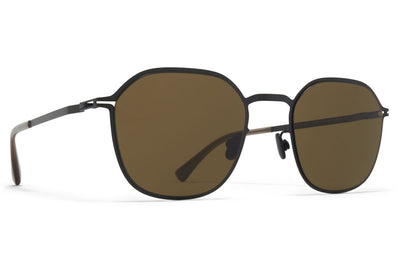 MYKITA - Felix Sunglasses Black with Raw Brown Solid Lenses