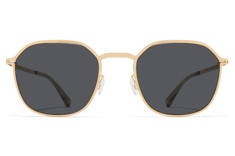 MYKITA - Felix Sunglasses Champagne with Dark Grey Solid Lenses