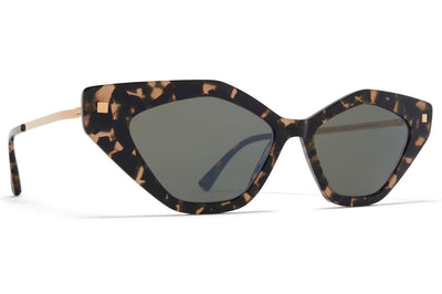 MYKITA - Gapi Sunglasses Antigua/Champagne Gold with Mirror Black Lenses