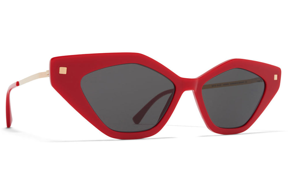 cbe64ecdd MYKITA - Gapi Sunglasses Red/Champagne Gold with Dark Grey Solid Lenses