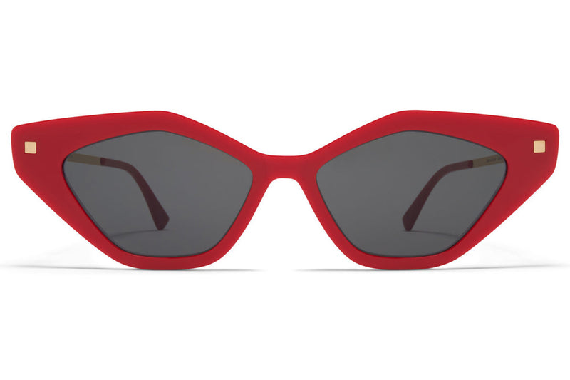 MYKITA - Gapi Sunglasses Red/Champagne Gold with Dark Grey Solid Lenses