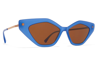 MYKITA - Gapi Sunglasses Misty Blue/Shiny Copper with Brown Solid Lenses