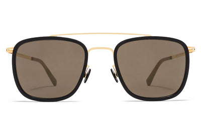 MYKITA Sunglasses - Hanno Glossy Gold/Black with Brilliant Grey Solid Lenses