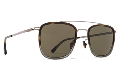 MYKITA Sunglasses - Hanno Shiny Graphite/Santiago Gradient with Raw Green Solid Lenses