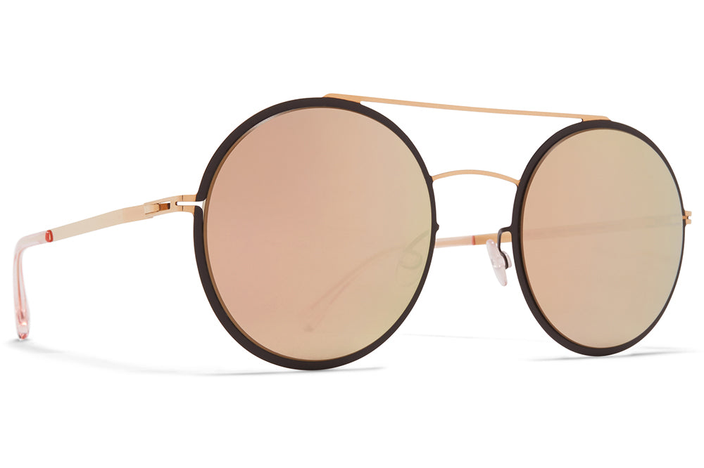 MYKITA - Helena Sunglasses Champagne Gold/Dark Brown with Champagne Gold Lenses