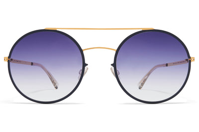 MYKITA - Helena Sunglasses Gold/Indigo with Grey Gradient Lenses