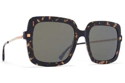 MYKITA - Hesta Sunglasses Antigua/Champagne Gold with Mirror Black Lenses