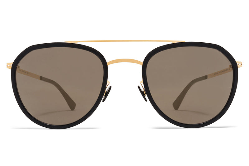 Glossy Gold/Black with Brilliant Grey Solid Lenses