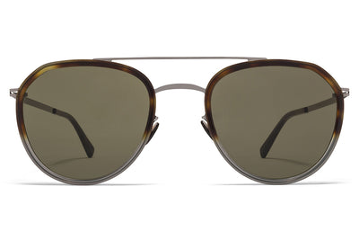 MYKITA Sunglasses - Jarmo Shiny Graphite/Santiago Gradient with Raw Green Solid Lenses