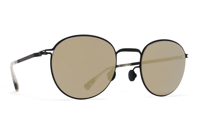 MYKITA Sunglasses - Jonte Black with Black Flash Lenses