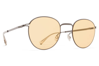 MYKITA - Jonte Sunglasses Shiny Graphite with Jelly Yellow Solid Lenses
