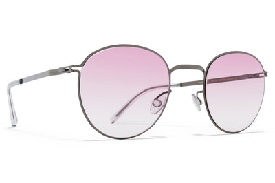 MYKITA - Jonte Sunglasses Shiny Graphite with Jelly Pink Gradient Lenses