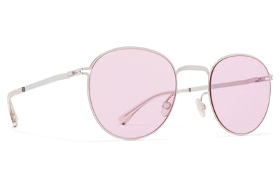 MYKITA - Jonte Sunglasses Shiny Silver with Jelly Pink Solid Lenses