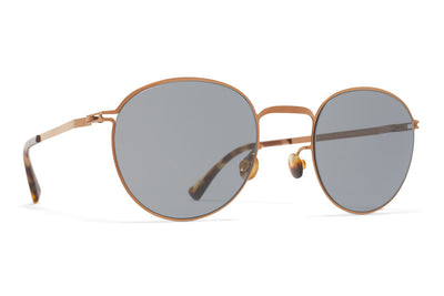 MYKITA Sunglasses - Jonte Shiny Copper with Dark Blue Solid Lenses