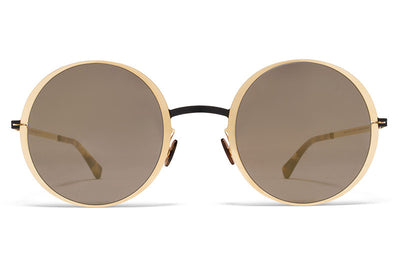 MYKITA Sunglasses - Joona Champagne Gold/Dark Brown with Champagne Gold Lenses