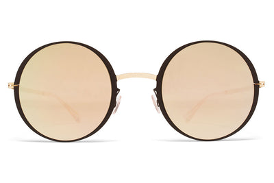 MYKITA Sunglasses - Joona Gold/Black with Brilliant Grey Solid Lenses