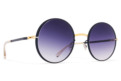 MYKITA Sunglasses - Joona Gold/Indigo with Grey Gradient Lenses